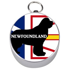 Newfoundland Name Silo On Flag Silver Compass