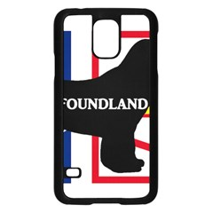 Newfoundland Name Silo On Flag Samsung Galaxy S5 Case (Black)