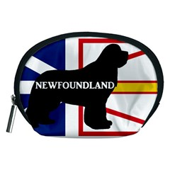 Newfoundland Name Silo On Flag Accessory Pouch (Medium)