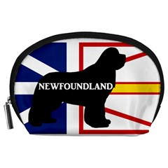 Newfoundland Name Silo On Flag Accessory Pouch (Large)