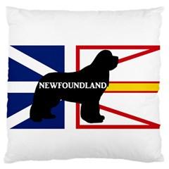 Newfoundland Name Silo On Flag Large Flano Cushion Case (Two Sides)