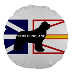 Newfoundland Name Silo On Flag Large 18  Premium Flano Round Cushion