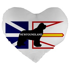 Newfoundland Name Silo On Flag Large 19  Premium Flano Heart Shape Cushion