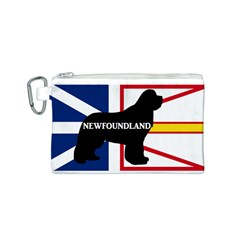 Newfoundland Name Silo On Flag Canvas Cosmetic Bag (Small)