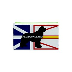 Newfoundland Name Silo On Flag Cosmetic Bag (XS)