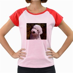 Old English Sheep Dog Pup Women s Cap Sleeve T-Shirt (Colored)