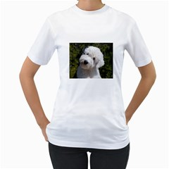 Old English Sheep Dog Pup Women s Two-sided T-shirt (White)