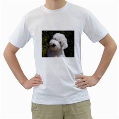 Old English Sheep Dog Pup Men s Two-sided T-shirt (White)