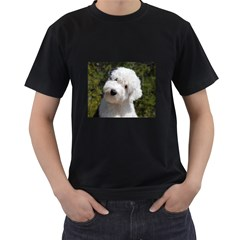 Old English Sheep Dog Pup Men s Two Sided T-shirt (Black)
