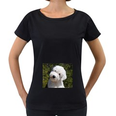 Old English Sheep Dog Pup Women s Loose-Fit T-Shirt (Black)