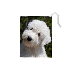 Old English Sheep Dog Pup Drawstring Pouch (Small)