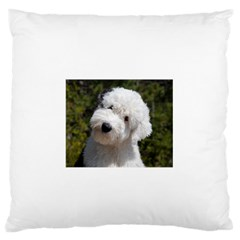Old English Sheep Dog Pup Large Flano Cushion Case (two Sides)