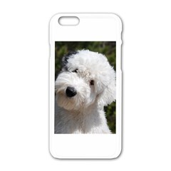 Old English Sheep Dog Pup Apple iPhone 6 White Enamel Case