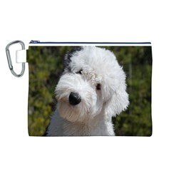 Old English Sheep Dog Pup Canvas Cosmetic Bag (Large)