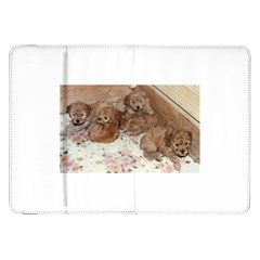 Apricot Poodle Pups Samsung Galaxy Tab 8.9  P7300 Flip Case