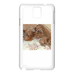 Apricot Poodle Pups Samsung Galaxy Note 3 N9005 Case (white)