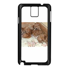 Apricot Poodle Pups Samsung Galaxy Note 3 N9005 Case (Black)