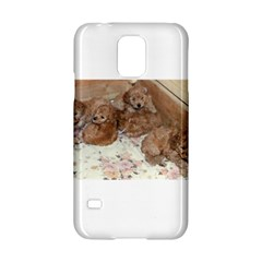Apricot Poodle Pups Samsung Galaxy S5 Hardshell Case