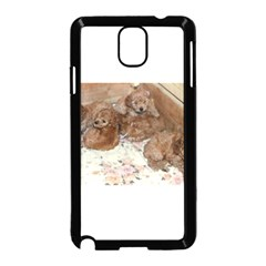 Apricot Poodle Pups Samsung Galaxy Note 3 Neo Hardshell Case (black)
