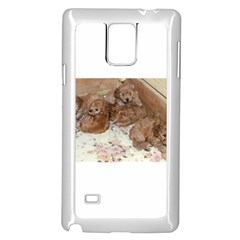 Apricot Poodle Pups Samsung Galaxy Note 4 Case (White)