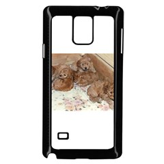 Apricot Poodle Pups Samsung Galaxy Note 4 Case (Black)