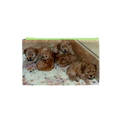 Apricot Poodle Pups Cosmetic Bag (XS)