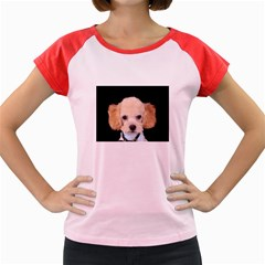 Apricot Poodle Women s Cap Sleeve T-Shirt (Colored)