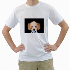 Apricot Poodle Men s Two-sided T-shirt (White)