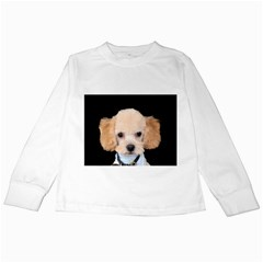 Apricot Poodle Kids Long Sleeve T-Shirt