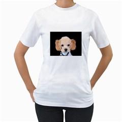 Apricot Poodle Women s T-Shirt (White)