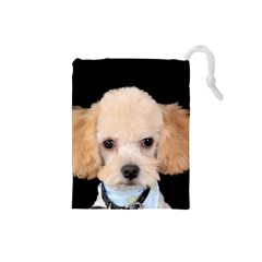 Apricot Poodle Drawstring Pouch (Small)