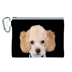 Apricot Poodle Canvas Cosmetic Bag (Large)