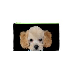 Apricot Poodle Cosmetic Bag (xs)