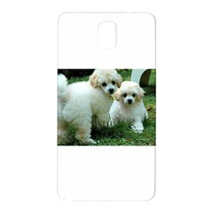 White 2 Poodle Pups Samsung Galaxy Note 3 N9005 Hardshell Back Case