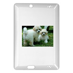 White 2 Poodle Pups Kindle Fire HD (2013) Hardshell Case