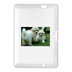 White 2 Poodle Pups Kindle Fire HDX 8.9  Hardshell Case
