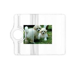 White 2 Poodle Pups Kindle Fire HD (2013) Flip 360 Case