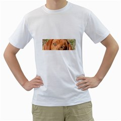 Redbone Coonhound Eyes Men s Two-sided T-shirt (White)