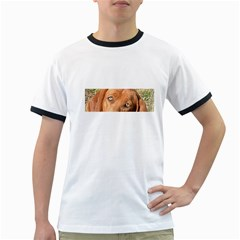 Redbone Coonhound Eyes Men s Ringer T-shirt