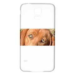 Redbone Coonhound Eyes Samsung Galaxy S5 Back Case (White)