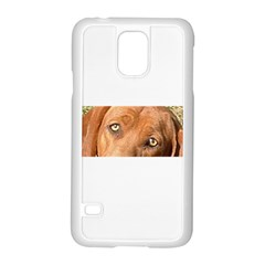 Redbone Coonhound Eyes Samsung Galaxy S5 Case (White)