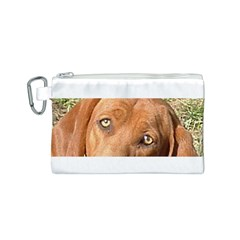 Redbone Coonhound Eyes Canvas Cosmetic Bag (Small)