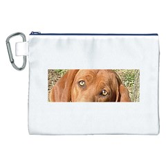 Redbone Coonhound Eyes Canvas Cosmetic Bag (XXL)