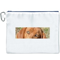 Redbone Coonhound Eyes Canvas Cosmetic Bag (XXXL)