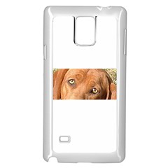 Redbone Coonhound Eyes Samsung Galaxy Note 4 Case (White)
