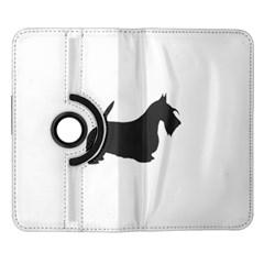 Scottish Terrier Dk Grey Silhouette Samsung Galaxy Note II Flip 360 Case