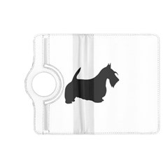 Scottish Terrier Dk Grey Silhouette Kindle Fire HD (2013) Flip 360 Case