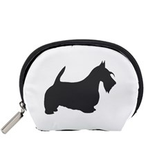 Scottish Terrier Dk Grey Silhouette Accessory Pouch (Small)