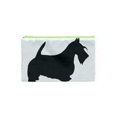 Scottish Terrier Dk Grey Silhouette Cosmetic Bag (XS)