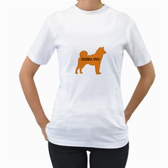 Shiba Inu Name Silo Color Women s Two-sided T-shirt (White)